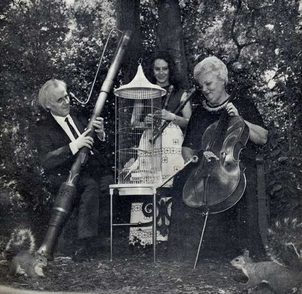 Hans Bender, left, led the Monrovia Recorder Consort in the summer of 1972, which was featured during a free concert on the main lawn at Descanso Gardens. Bender was formerly first violinist of the Heidelberg Bach Symphony and the Berlin Philharmonic Orchestra.