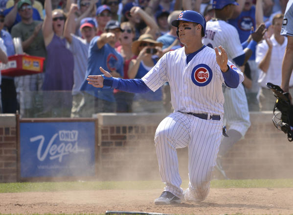 Anthony Rizzo has had some big hits already for the Cubs.