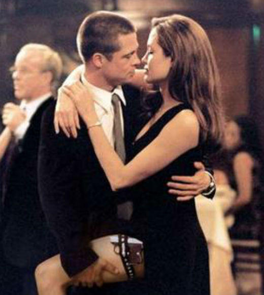 TV and Movie Spies: Married assassins who have not revealed their career to their spouse find themselves with a precarious mission assignment, to assassinate them. John (Brad Pitt) and Jane (Angelina Jolie) Smith find themselves in this position and must find their way and try to not kill their loved one.
