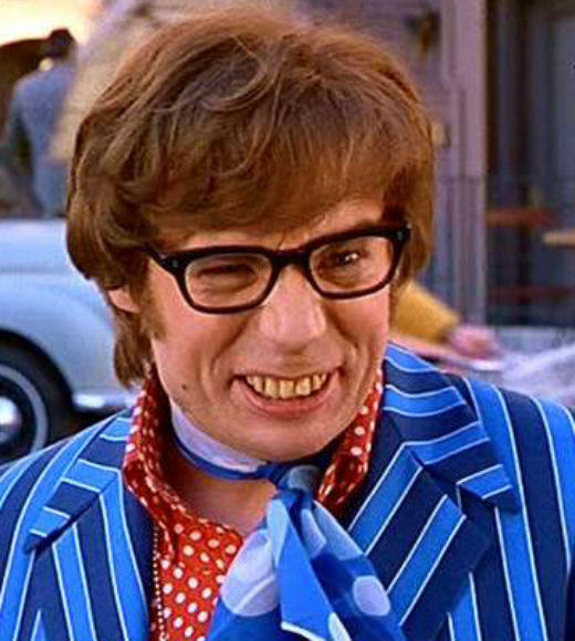 TV and Movie Spies: The grooviest spy Austin Powers (Mike Myers) advocates for free love, mojo, and relaxation in the film trilogy.