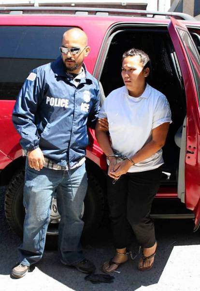 """Anel Violeta Noriega Rios, 27, is arrested in El Monte. """"It is the last place you'd expect to find someone who was supposed to have run so many drugs,"""" a source familiar with the investigation told The Times."""