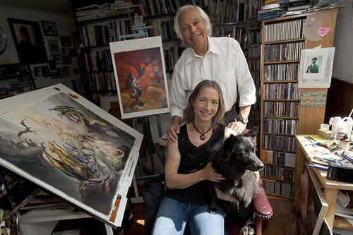 Artists Boris Vallejo and wife Julie Bell are pictured in the studio of their Lehigh Valley home on Sunday, July 1, 2012.