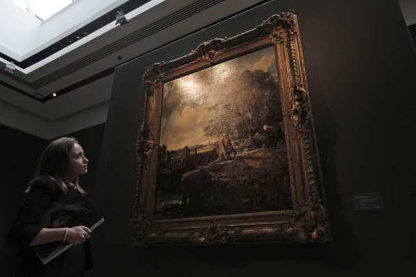 """The Lock"" by John Constable, which recently sold at a London auction for $34 million, had previously hung in Madrid's Thyssen-Bornemisza Museum."
