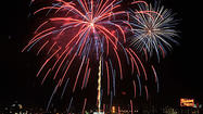 Braving sweltering heat, strident warnings of roving gangs and a killjoy calendar that let the Fourth of July fall midweek, Marylanders and visitors from around the world flocked to the Inner Harbor Wednesday night to catch their share of rockets' red glare.