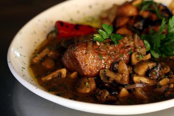 Pork Tenderloin Marsala with Three Mushrooms - Cima di Maiale Marsala Tre Funghi at Kitchenetta in Fort Lauderdale.