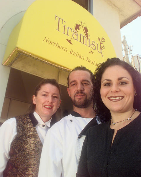The staff of Tiramisu a northern Italian restaurant in Boca Raton.