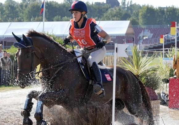 Allison Springer and Arthur at a 2008 competition in France. (Mychele Daniau / Getty Images)