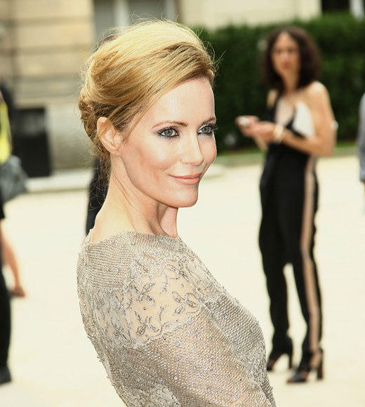 Celebrities at Paris Fashion Week 2012: Kim Kardashian, Kanye West and more...: Leslie Mann
