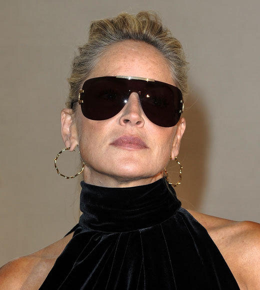 Celebrities at Paris Fashion Week 2012: Kim Kardashian, Kanye West and more...: Sharon Stone