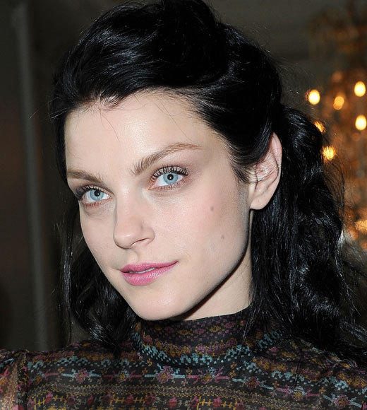 Celebrities at Paris Fashion Week 2012: Kim Kardashian, Kanye West and more...: Jessica Stam