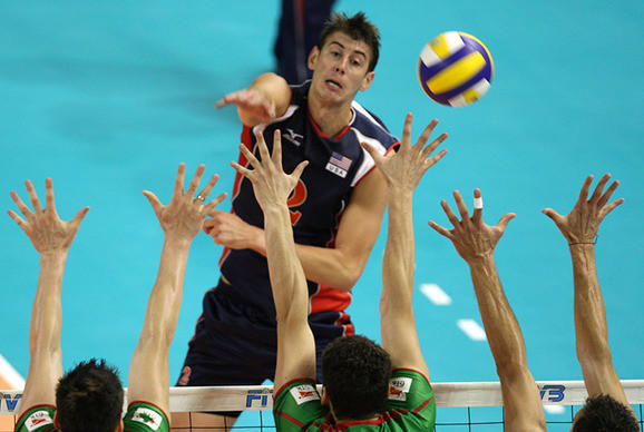 Sean Rooney in a World League match