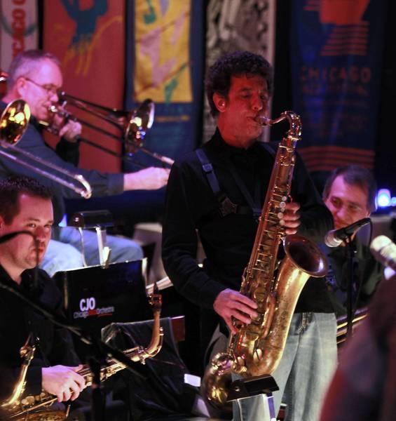Saxophonist Eric Schneider of The Chicago Jazz Orchestra.