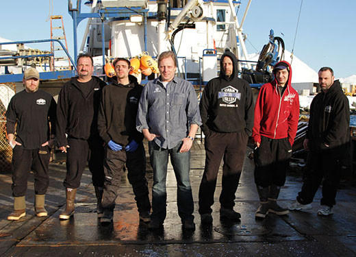 'Deadliest Catch' Season 8 pictures: Left to right: Norm Hansen, Nick Mavar, Jr., Jake Anderson, Captain Sig Hansen, Deck Boss Edgar Hansen, Jake Harris and Matt Bradley.