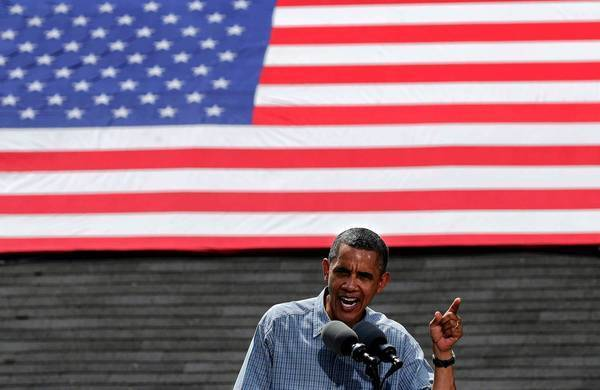 President Obama talks up his healthcare law at a campaign stop in Maumee, Ohio, a week after the Supreme Court upheld it.