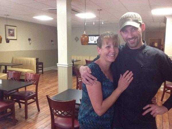 Christine's Cafe owner Sheree Green, left, moved her restaurant to the site of the former John Wallace Kitchen at 81 W. Main St., Waynesboro, Pa. She is shown with her executive chef, Keith Lowman.