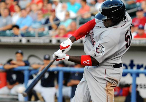 IronPigs first baseman Ryan Howard hits a single against the Scranton/Wilkes-Barre Yankees at Coca-Cola Park in Allentown on Thursday.
