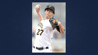 Pittsburgh Pirates pitcher Jeff Karstens delivers during the first inning of a baseball game against the Houston Astros in Pittsburgh on Thursday.