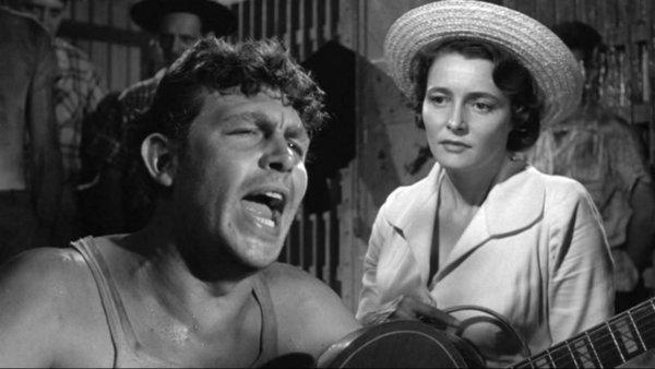 "Andy Griffith and Patricia Neal star in ""A Face in the Crowd."""