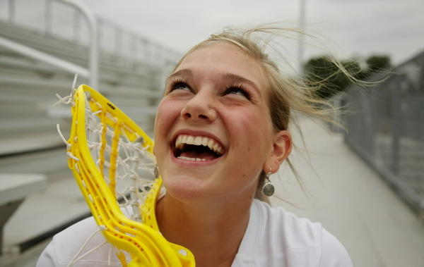All-Courant portrait of Glastonbury High School's Girls Lacrosse Player of the Year Katie DeVito at Glastonbury High School.
