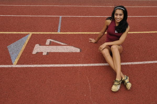 Windsor's Sydnee Over, the Courant's girls track athlete of the year.