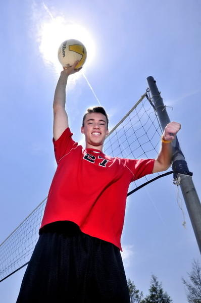 Cheshire's Ryan Cuppernull is the boys volleyball player of the year.
