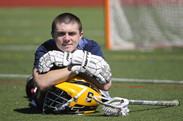 Simsbury senior attack Trevor Gallagher, is the Courant boys lacrosse player of the year.
