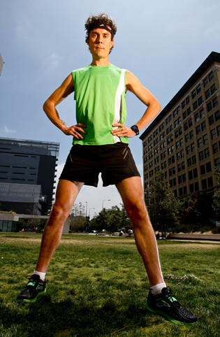 Scott Jurek, vegan now, used to eat fast food.
