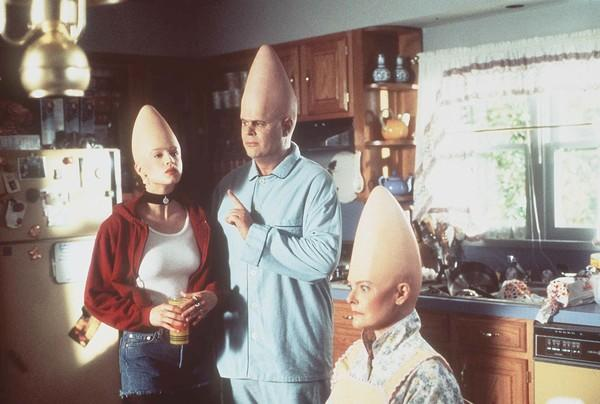 "<b>UGLY:</b> Sixteen years after the skit premiered on ""Saturday Night Live,"" the ""Coneheads"" movie landed, with Michelle Burke, left (replacing Laraine Newman as Connie), and parental units <a class=""taxInlineTagLink"" id=""PECLB000285"" title=""Dan Aykroyd"" href=""/topic/entertainment/movies/dan-aykroyd-PECLB000285.topic"">Dan Aykroyd</a> and <a class=""taxInlineTagLink"" id=""hpc772"" title=""Jane Curtin"" href=""/topic/entertainment/jane-curtin-hpc772.topic"">Jane Curtin</a>. Audiences did not consume it in mass quantities."