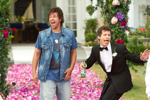 "<strong>Bad: </strong> Adam Sandler and former ""SNL"" cohort Andy Samberg's attempt to bring back Sandler's '90s boorish comedy feel flat both in reviews and at the box office."