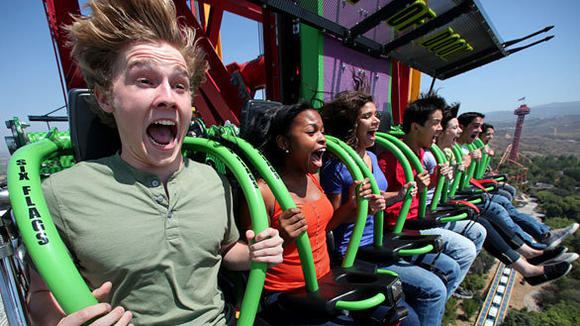 Lex Luthor: Drop of Doom drop tower at Six Flags Magic Mountain