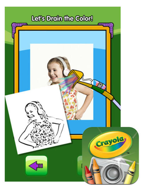 Your kids can snap their own photos and turn them into a custom coloring book.