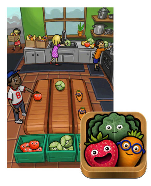 This game is loaded with healthy eating tips.