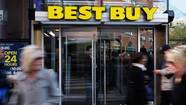 The entrance to a Best Buy store in New York