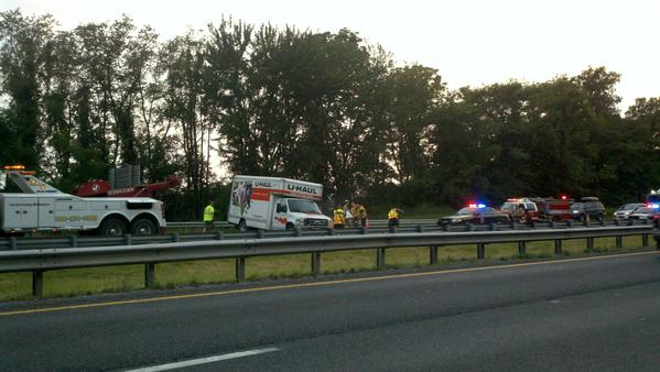 No one was injured in this accident on eastbound Interstate-70 near the junction with Interstate 81.