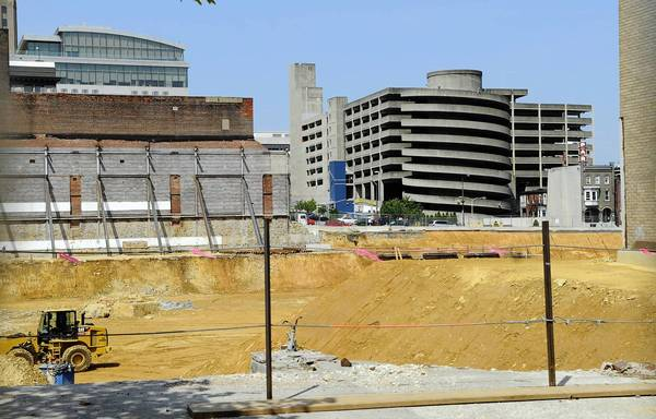 Preparation for a new hockey arena in downtown Allentown continued Thursday.