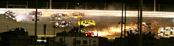 Scenes from NASCAR's Nationwide series Subway Jalapeno 250, at Daytona International Speedway, in Daytona Beach, Fla., Friday night, July 6, 2012. Kurt Busch won the race.