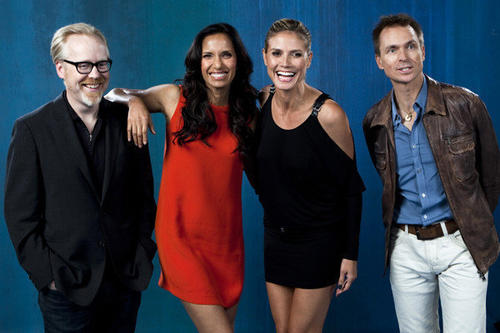 "The reality TV host Round Table participants included, from left, Adam Savage of ""Mythbusters,"" Padma Lakshmi of ""Top Chef,"" Heidi Klum of ""Project Runway,"" and Phil Keoghan of ""The Amazing Race."""