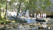 With hot weather, people flock to Harford's natural swimming holes