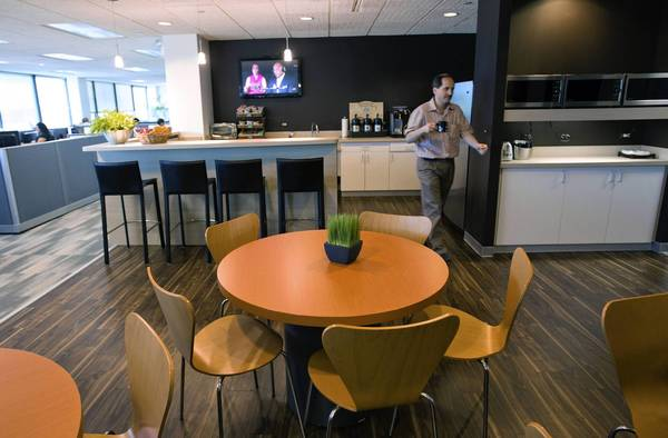 Free breakfast is one of the perks that Chipman Design Architecture in Des Plaines implemented as it started to stabilize after the recession, which forced the firm to lay off employees and make other cutbacks.