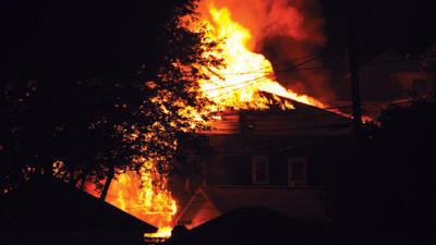 The tenant in the rear apartment did not have insurance when a blaze on June 28 at this Catherine Street home in Somerset caused extensive damage.
