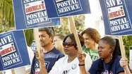 The scaling back of operations at a Northwest Pasadena mail distribution center started Saturday, just days after more than 100 U.S. Postal Service workers and three members of Congress gathered on the steps of Pasadena City Hall to protest the move.