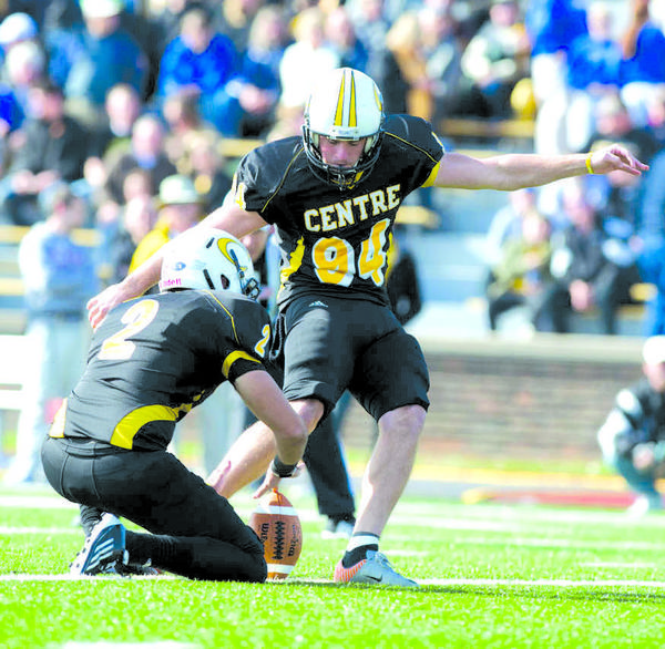 Jordan Gay (94) of Centre College has been named a preseason second team All-America punter by the Beyond Sports Network. Gay, a Danville High School graduate, ranked eighth in the nation last year in punting average and has set five school records at Centre. Now he is set to have an even better senior season for the Colonels.
