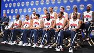 LAS VEGAS — Buried in a ballroom amid the opulence of a high-rise casino hotel on the Las Vegas Strip, the 12 members of the U.S. Olympic basketball team were unveiled Saturday.