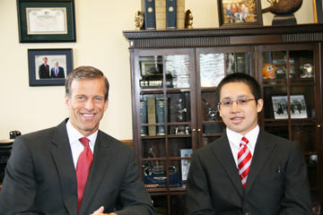 U.S. Sen. John Thune, R-S.D., left, met with Aberdeen resident Andre Bieber during his recent trip to the National Youth Leadership Council in Washington, D.C., on June 14.