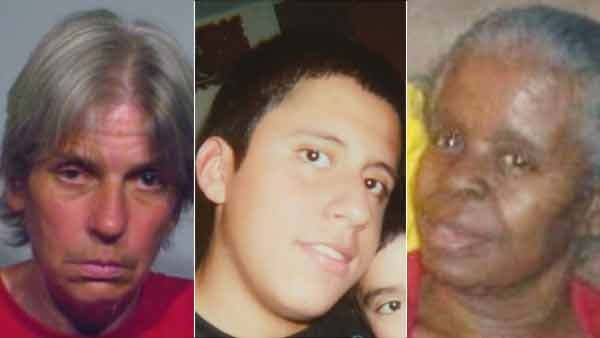 Three people reported missing today by Chicago Police: Theresa Dobrzeniecki, Manuel Martinez, and Doris Blanchard (from left)