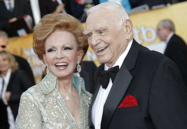 Ernest Borgnine and his wife, Tova, at the 17th Annual Screen Actors Guild Awards in Los Angeles in January 2011.