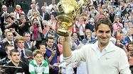 WIMBLEDON, England — Roger Federer sweetly made delicate volleys drop as if it was no trouble at all. He ferociously aimed his one-handed backhand deep into the corners of Centre Court, making the ball land on all the lines and kick up chalk. He relentlessly kept attacking with his forehand, taking it crosscourt and up the lines.