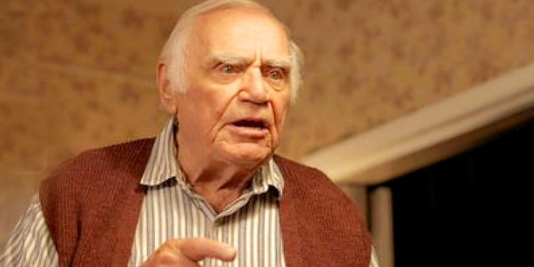 "Ernest Borgnine stars in ""The Man Who Shook the Hand of Vicente Fernandez."""