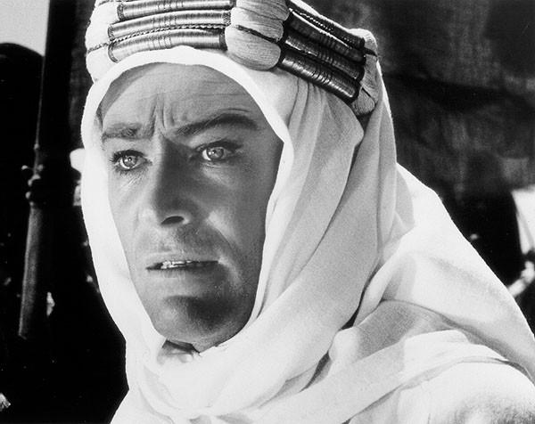 "Peter O'Toole in ""Lawrence of Arabia."""