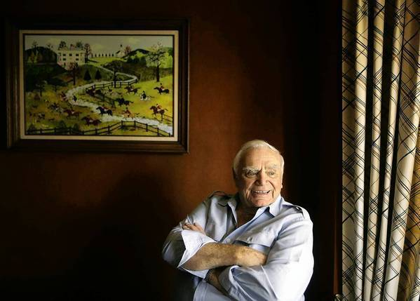 Ernest Borgnine at home in Beverly Hills on Aug. 1, 2008.